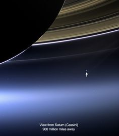 View of Earth from Saturn